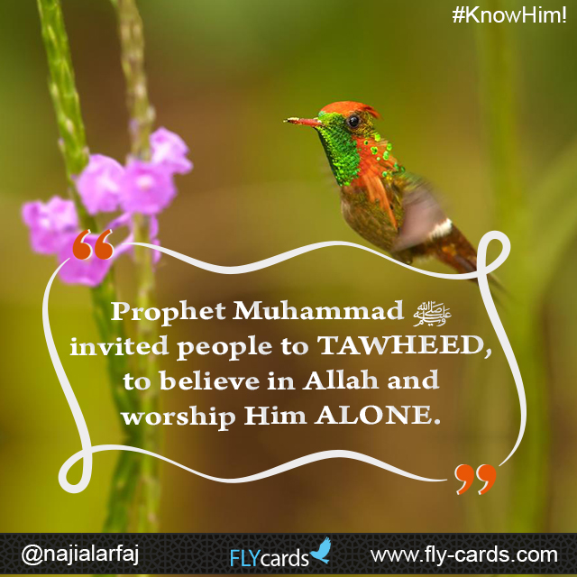 Prophet Muhammad invited people to the Oneness (TAWHEED) of the true God, to believe in Allah and worship Him ALONE