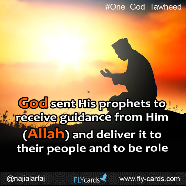 God sent His prophets to receive guidance from Him (Allah) and deliver it to their people and to be role models to their followers.